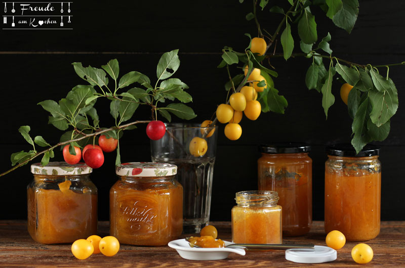 Kriecherl Marmelade - Ringlotten - Reneclauden-Mirabellen Konfitüre - Rezept vegan - Freude am Kochen