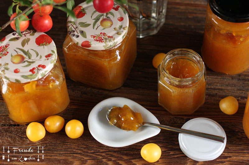 Kriecherl Marmelade - Ringlotten Konfitüre - Rezept vegan - Freude am Kochen