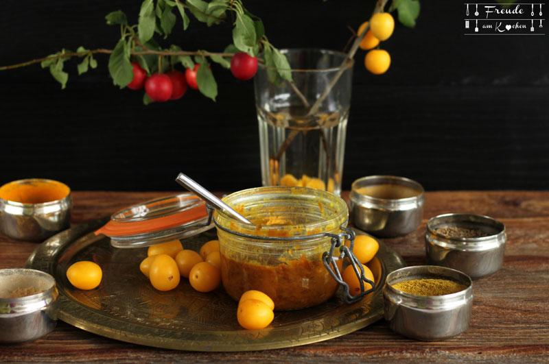 Indisches Kriecherl - Mirabellen - Ringlotten - Reneclauden - Chutney - Rezept vegan - Freude am Kochen