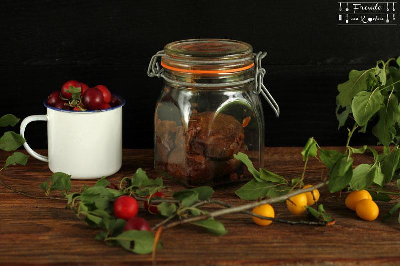 Indisches Kriecherl - Mirabellen - Ringlotten - Reneclauden - Chutney - Rezept vegan - Freude am Kochen - Jaggery