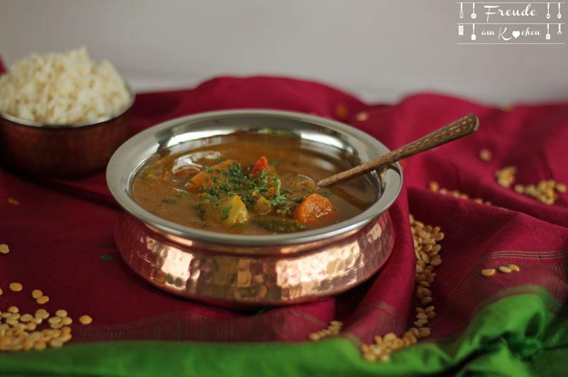 Jatinder´s Sambar - südindische Gemüsesuppe - Rezept vegan - Freude am Kochen