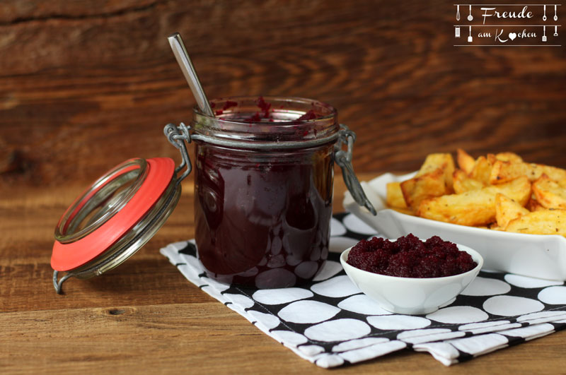 Rote Rüben - Rote Bete - Ketchup - Thermomix - Freude am Kochen