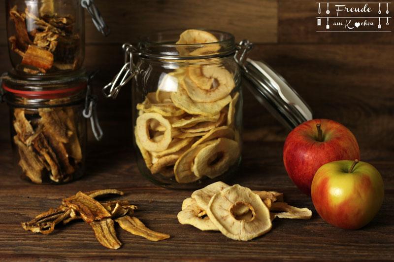 Dörren - Äpfel und Bananen trocknen - Rezept vegan - Freude am Kochen