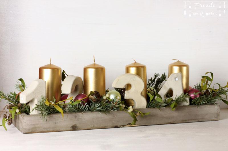 Adventkranz DIY - Weihnachten - Advent - Freude am Kochen