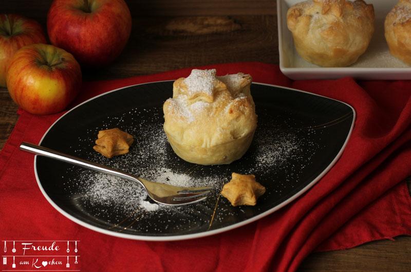 Mini Apfelstrudel Muffins - Rezept vegan - Freude am Kochen