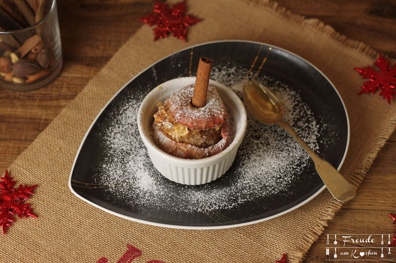 Gefüllter Apfelstrudel Bratapfel - vegan - Weihnachten vegan - Freude am Kochen