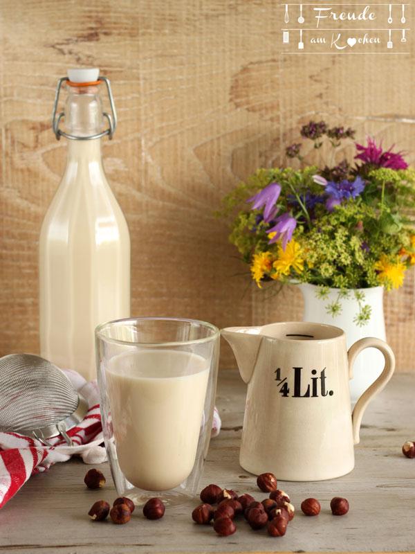 Haselnuss Drink selbermachen - vegan - Freude am Kochen
