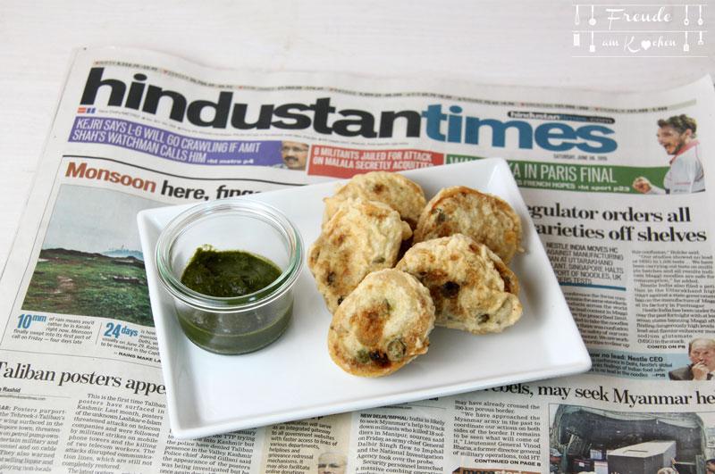 Hari Chutney - indische grüne Sauce - Samosa Schnecken - Rezept vegan - Freude am Kochen