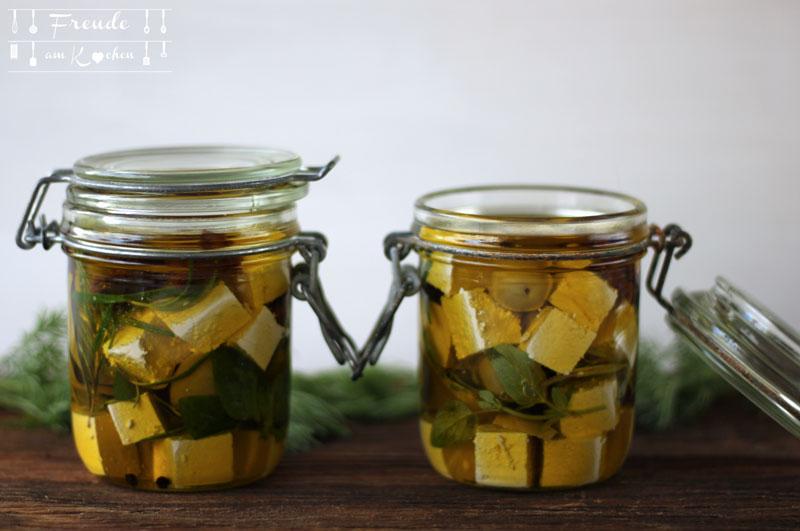 Eingelegter Tofu - Rezept vegan - Freude am Kochen