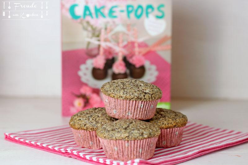 Vegane Mohn & weiße Schokolade Cupcakes bzw Muffins mit weißer Schokoganache von Freude am Kochen