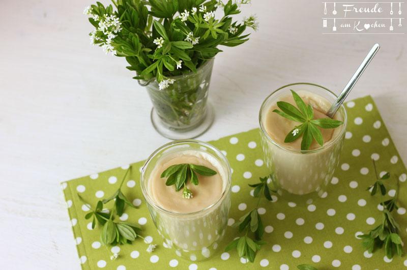 Schneller Waldmeister Pudding - Rezept vegan - Freude am Kochen