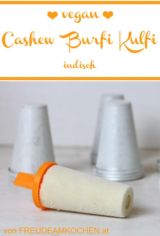 Indisches Cashew Burfi Kulfi vegan - Freude am Kochen