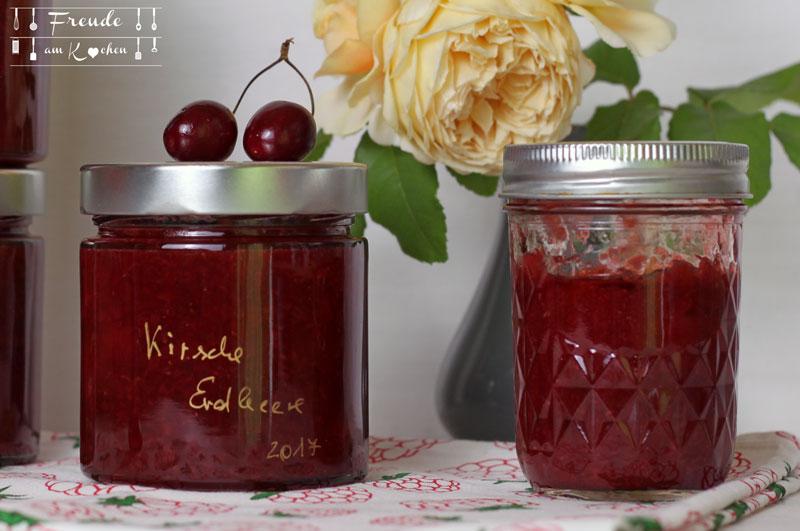 Kirsch Erdbeer Amaretto Marmelade - Freude am Kochen vegan