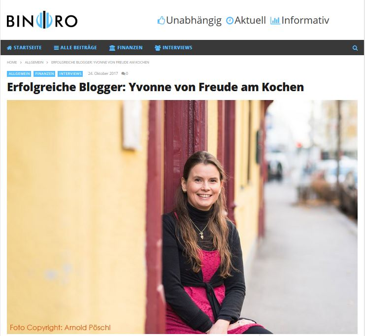 Interview erfolgreiche Blogger - Freude am Kochen