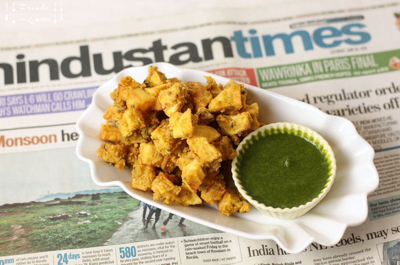 Kartoffel Pakoras mit Hari Chutney - Aloo Pakoras - Freude am Kochen vegan