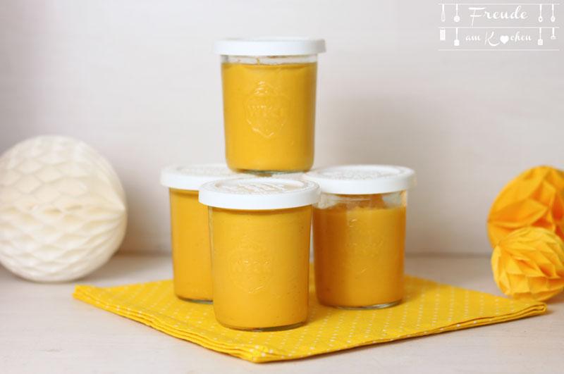 Schneller Mango Pudding vegan - Freude am Kochen