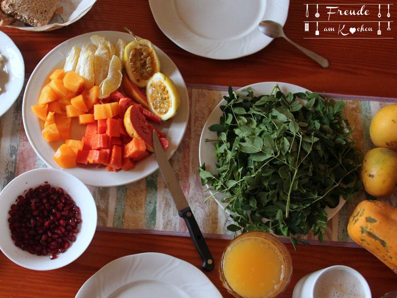 Frühstück auf Teneriffa mit frischem Moringa - Freude am Kochen vegan