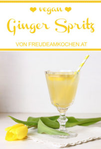 Ginger Spritz - Ingwer Spritzer - Rezept Freude am Kochen vegan
