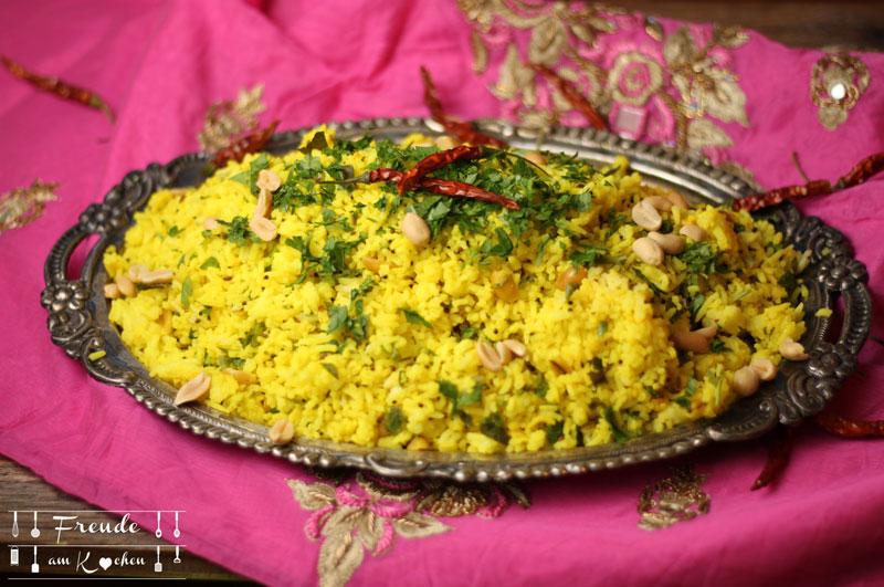 Südindischer Zitronen Reis - Lemon Rice - Freude am Kochen - vegan - glutenfrei