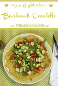 Bärlauch Omelette glutenfrei - 5 Varianten - vegan - Freude am Kochen