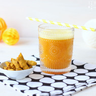 Kurkuma Orangen Ingwer Drink - meine goldene Superfood Limonade