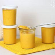 Schneller Mango Pudding