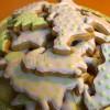 Verzierte Lebkuchen - vegetarisch