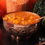 Kürbis Dhal - Feuerlinsen Kürbis Curry