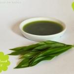 Bärlauch-Öl gemixt