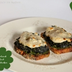 Überbackenes Bärlauch-Brot bzw Bärlauch-Toast