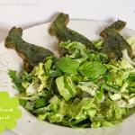 Salat mit Bärlauchdressing & Bärlauch-Pizza-Häschen