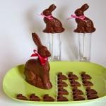 Dunkle Pfefferminz-Schokolade Osterhase - vegan