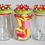 Glücks- und Dankbarkeits-Glas für 2015 basteln...