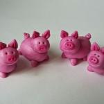 Schweinchen aus Fondant & Fimo