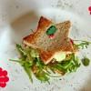 Weihnachtlicher Stern-Burger mit Preiselbeer-Mayo