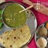 Bärlauch Seitan Kartoffel Curry mit Bärlauch Chapati