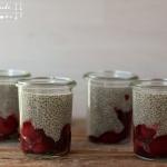 Lebkuchen Chia Pudding mit Weichsel-Kompott