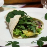 Mango Guacamole Wraps mit frischem Moringa
