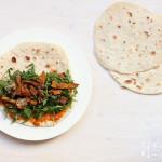 Zucchini Feta (Schafkäse) Wrap – vegetarisch