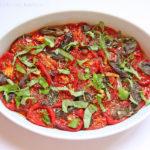 Tomatensalat aus gebratenen Tomaten