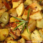 Ofenkartoffelwürfel mit Rosmarin und Knoblauch