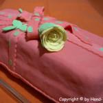Packerl Torte lang mit Rose