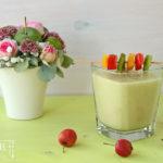Zucchinicremesuppe mit Kürbiskernpesto