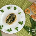 Bärlauch Strudel mit Schafskäse – vegetarisch