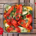 Salat mit Antipasti Gemüse