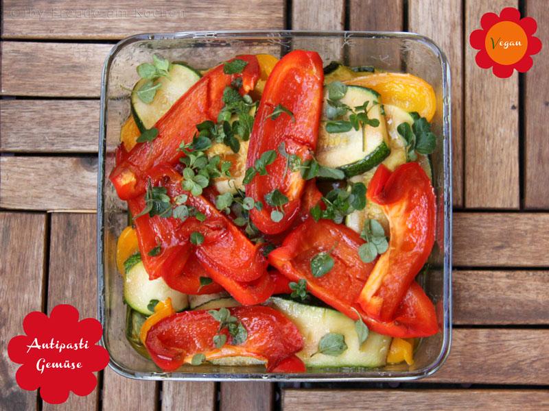 Salat mit Antipasti Gemüse - Freude am Kochen vegan