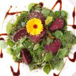 Essbare Blüten Salat-Deko
