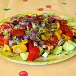 Insalata Tropeane – Salat, wie er in Tropea (Kalabrien, Italien) gegessen wird *vegan*