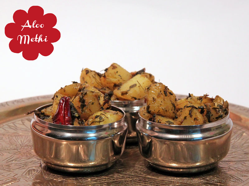Aloo Methi - Indische Kartoffel mit Bockshornklee - Freude am Kochen vegan