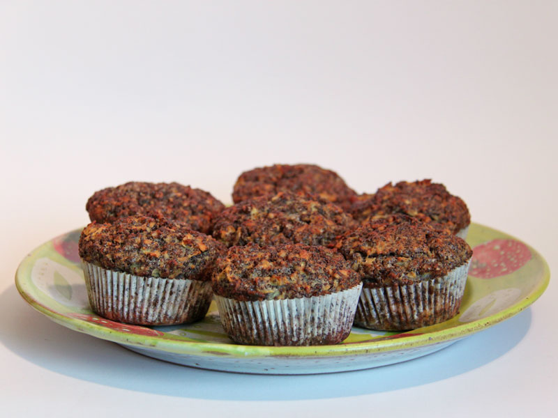 Apfel Walnuss Mohn Cupcakes mit Zitronen Topping